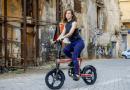 Bicicleta elétrica com design futurístico