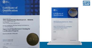 WEG recebe certificação