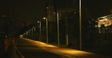 Iluminação inteligente em ciclovia