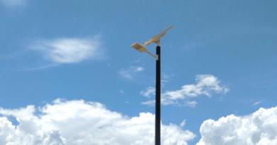 Luminária solar inteligente