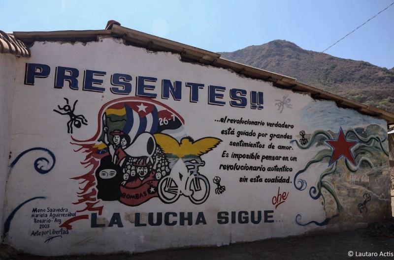 Mural en la escuela de La Higuera ©