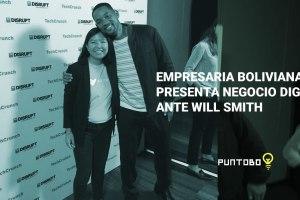 Empresaria boliviana presenta negocio digital ante Will Smith
