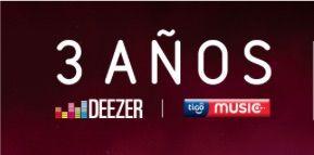 Deezer y Tigo Music 3 anos
