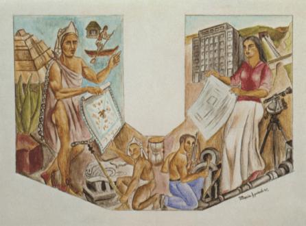 Proyecto Mural, María Izquierdo,