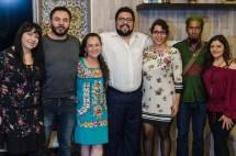 Rocio Noblecilla, Giovanni Algarra, Alma Vázquez, Alberto De León, Viridiana Rivera, Rubén Lombida, Erika Niño