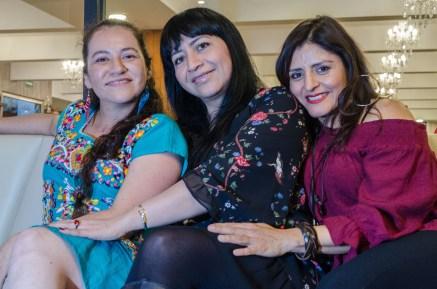 Alma Vázquez, Rocio Noblecilla, Erika Niño, equipo editorial QUIXE