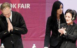 Fernando Vallejo y Herta Müller. Foto por: José Méndez/EFE