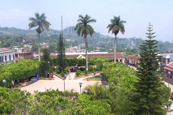 La plaza de Simojovel.