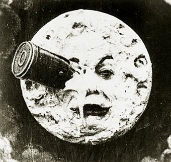 Fotograma del Viaje a la luna, de Georges Melies, 1902.