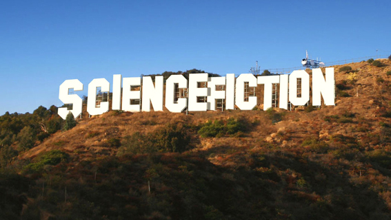 Science fiction hill...