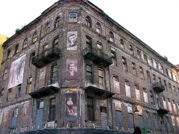 Edificio en el antiguo gueto judío de Varsovia,