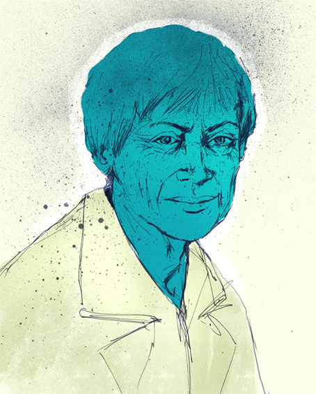 Ursula K. LeGuin. Ilustración de Taros.