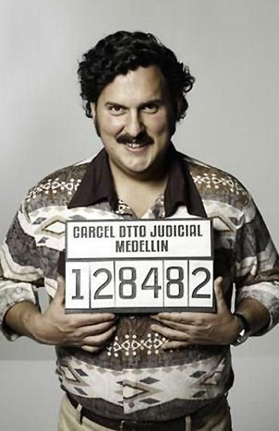 Pablo Escobar Gaviria (fotomontaje).
