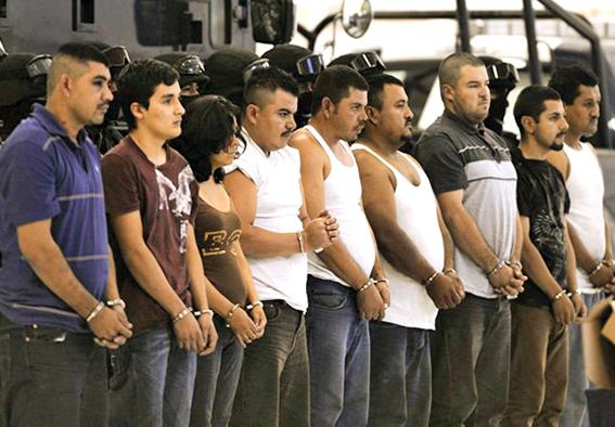 Sicarios del Chapo Guzmán capturados. Foto © www.diarioimagen.net