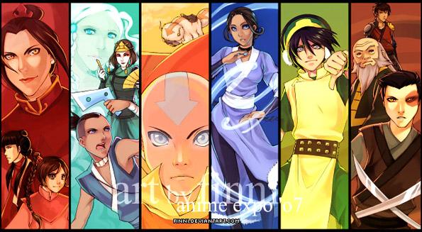 Los personajes originales.