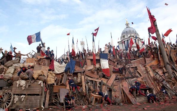Barricada, escena de la película Los miserables.