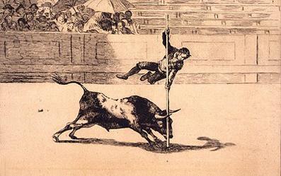 Goya, serie de tauromaquia.