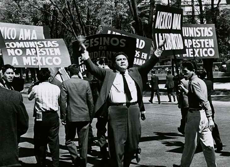 Protesta anticomunista en 1961.