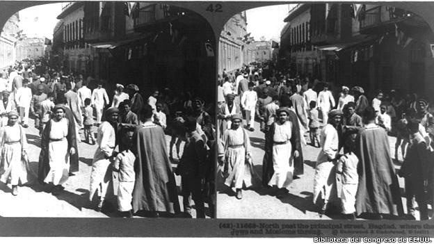 Judios y musulmanes en Bagdad, 1914
