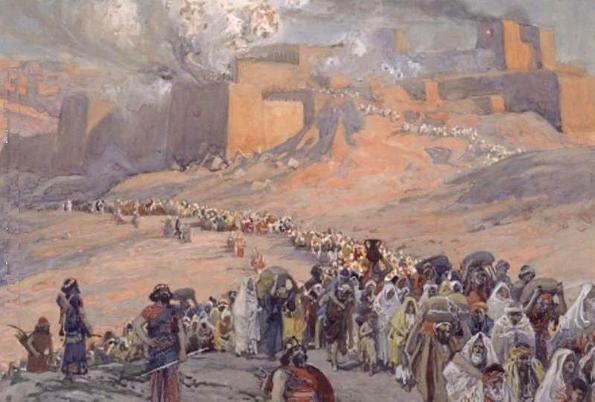 """James Jacques Joseph Tissot, """"El traslado de los prisioneros""""."""