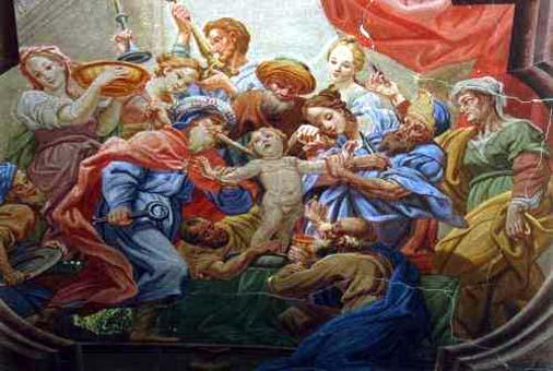 El supuesto asesinato del niño san Simón de Trento en 1475.