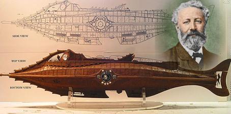 Julio Verne y el Nautilus.