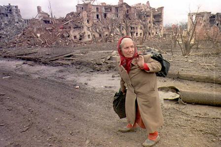 Ruinas en Chechenia. Foto © BBC.
