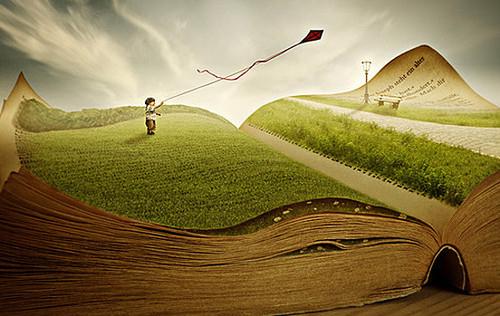 El libro y los niños. Ilustración de www.themoatblog.com