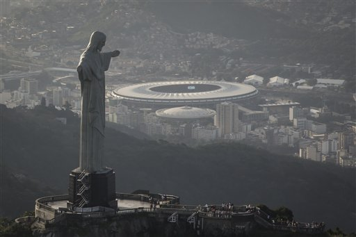 El Cristo del Maracaná. Foto © AP Felipe Dana.