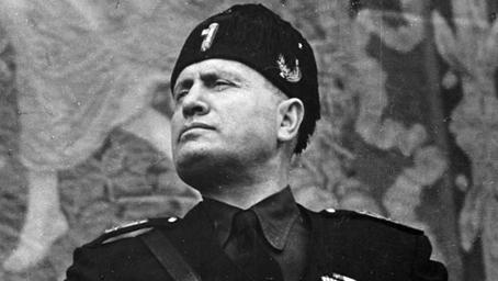 Il Duce, Benito Mussolini.