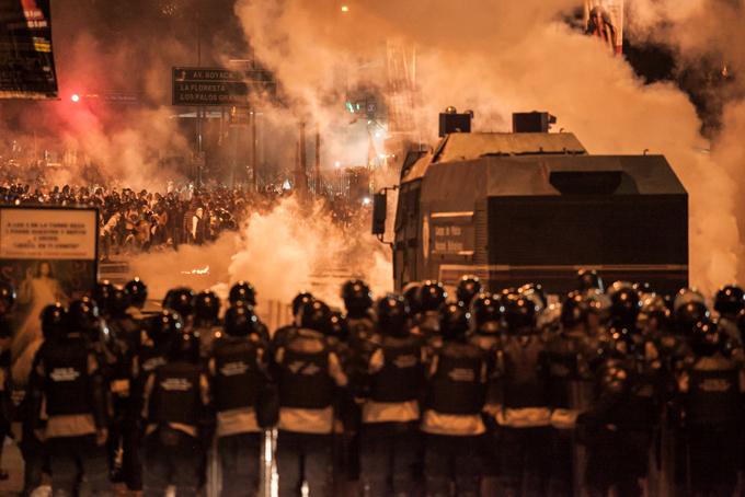 Protestas en Caracas, febrero de 2014. Foto © Mauricio Villahermosa / Orinoquiaphoto.