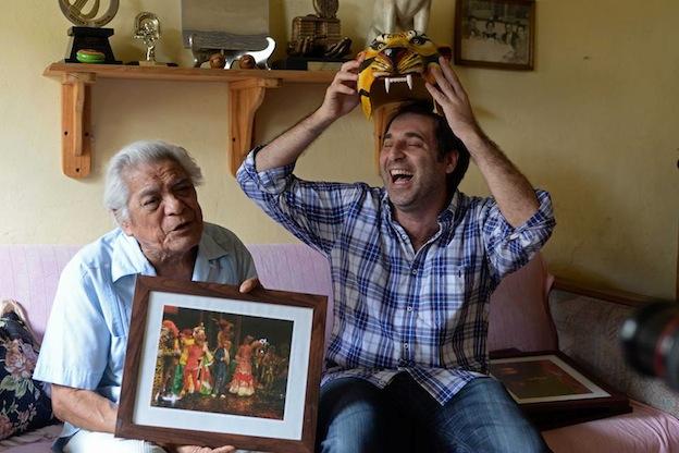 Tony y el cronista. Foto © Cuauhtémoc Moreno Cabrera.