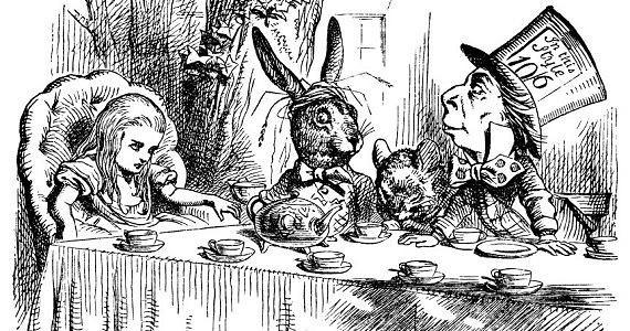 Una de las ilustraciones para Alicia... de John Tenniel.