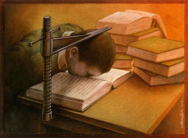"""Lectura obligatoria"", ilustración de Pavel Kuczynski."