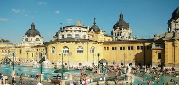 Los baños de Széchenyi.
