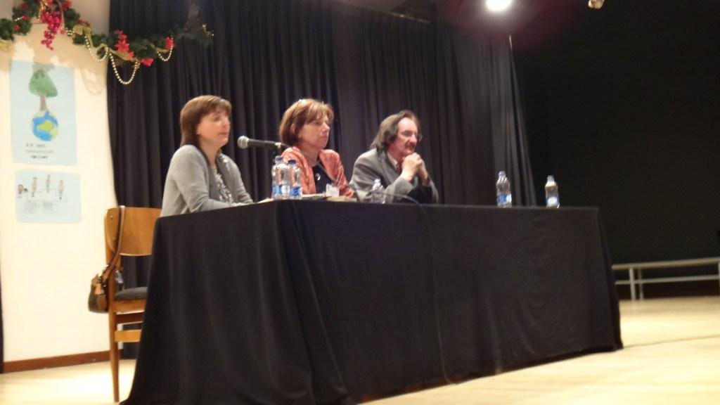 De izquierda a derecha. Isabel Hernández, Yolanda Reyes y Daniel de Campos