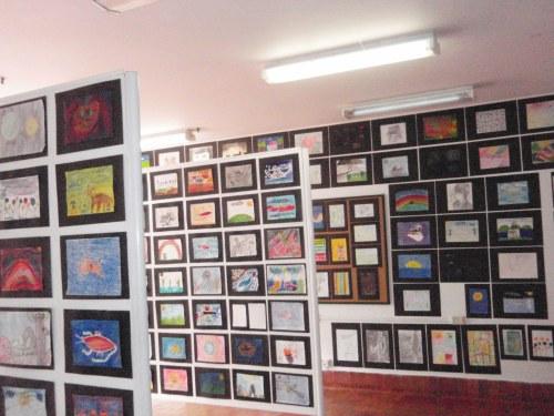 Exposición de obras realizadas en el Taller de Plástica, a lo largo del primer trimestre