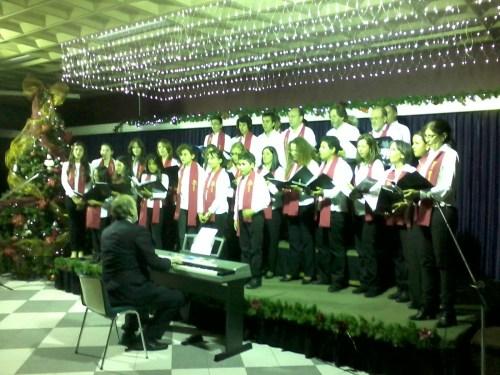 Coro Reyes Católicos, en la Casa de España. navidad 2013