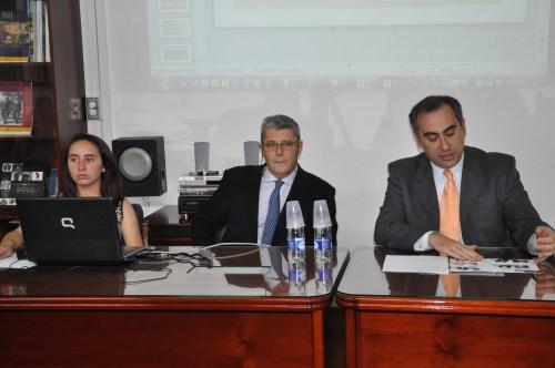 El Director del curso, Jaime Prieto y el Rector, Luis Fernández, clausuraron el curso (Fotografía Juan Francisco Zuleta Orjuela)