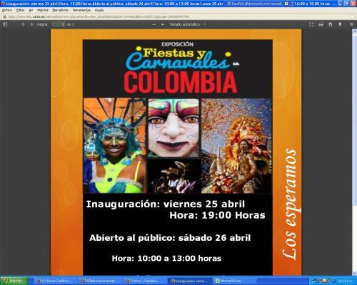 CCEE Reyes Católicos. Fiestas y carnavales de Colombia