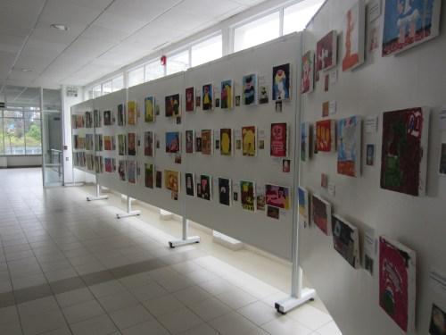 Exposición de trabajos, donde los niños y niñas de 5 años reproducen a Botero
