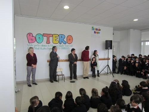 Inauguración de la exposición, con la presencia del Agregado de Educación de la Embajada de España y el Director General del ICFES