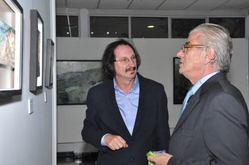 El pintor Daniel de Campos y el Embajador de España en Colombia, Don ramón Gandarias