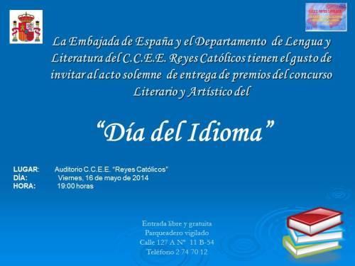 CCEE Reyes Católicos. Día del Idioma 2014