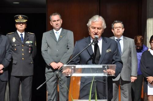 Ramón Gandarias, Embajador de España en Colombia, presidió el acto de la Fiesta Nacional de España