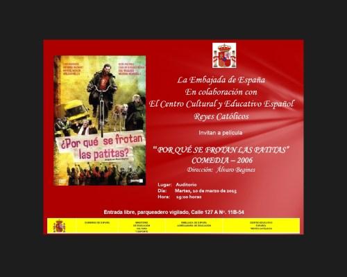 CCEE Reyes Católicos. Martes de cine español