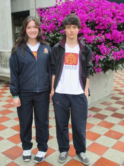 Los alumnos Natalia Hernández Maya y Nelson Daniel Celis Ochoa.