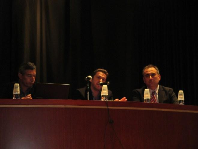 Un momento de la conferencia en el Centro Cultural Reyes Católicos de la Embajada de España en Colombia