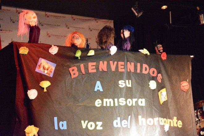 Experiencia de radio escolar y títeres del Colegio Nuevo Horizonte.