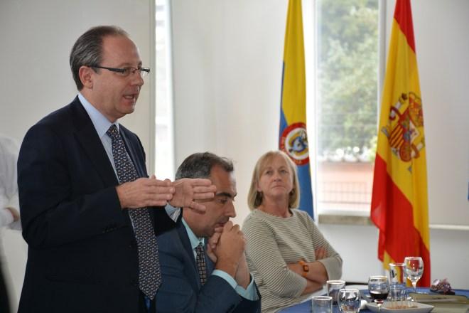 Sergio Krsnik, Cónsul de España en Bogotá, en el CCEE Reyes Católicos